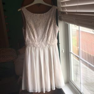 Cream Pink Homecoming/ Prom Dress